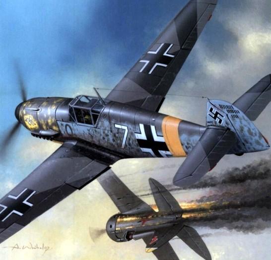 bf-109f-jg3-udet-vs-rata-arkadiusz-wrobel-oberleutnant-robert-olejnik-staffelkapita%cc%88n-of-1-jg-3-shepetowka-rusia-1941