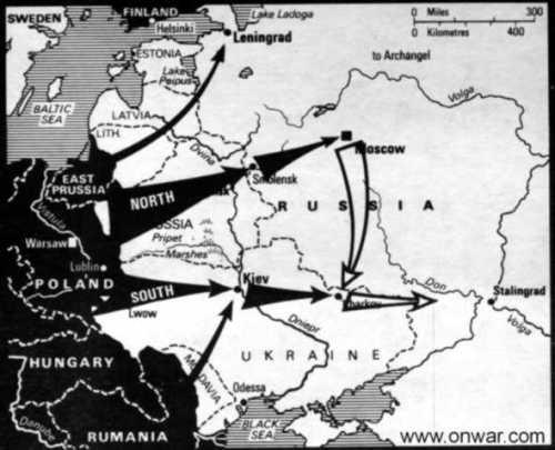 mapa marcks plan dos ejees de ataque