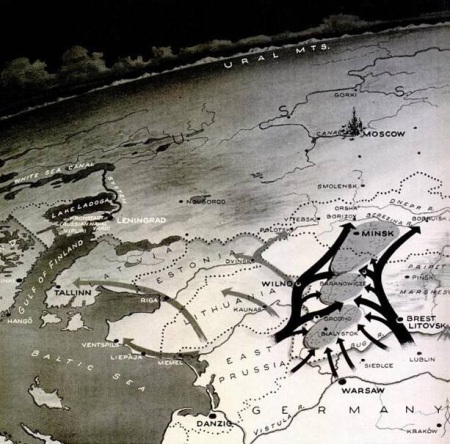 mapa cercos grupo ejercitos centro barbarroja