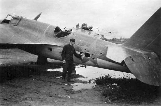 Tupolev sb-2 dañado