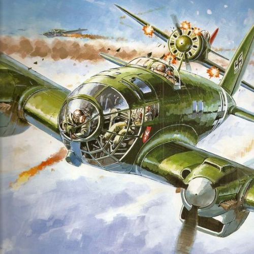 he-111 in action over russia