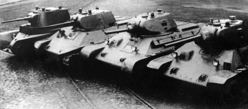 la evolucion del t-34
