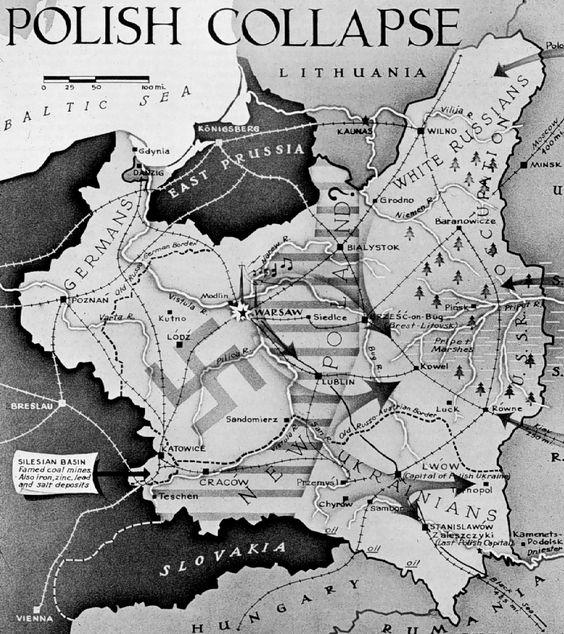 mapa polonia 1939