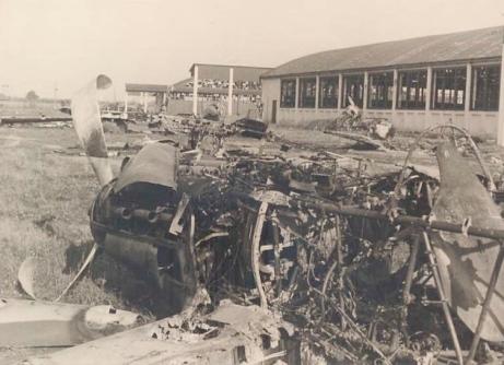 Aeródromo Soviético atacado