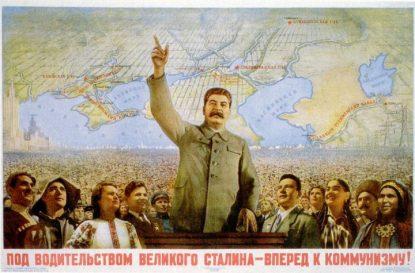 cartel-stalin-adelante comunismo