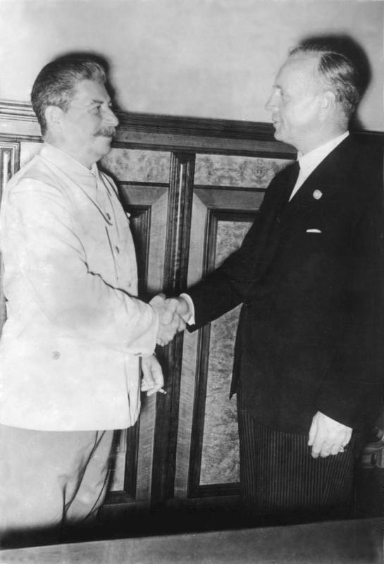 Moskau, Stalin und Ribbentrop im Kreml